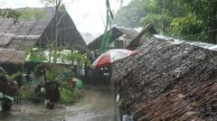 Asian monsoon Stock Footage
