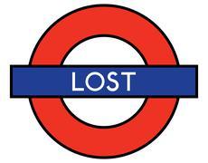 Lost on the underground Stock Illustration