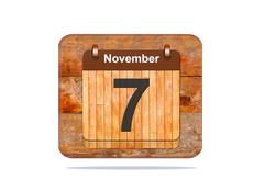 Stock Illustration of november 7.