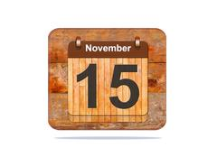 Stock Illustration of november 15.