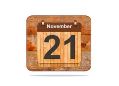 Stock Illustration of november 21.