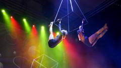 Circus artist   woman Stock Footage