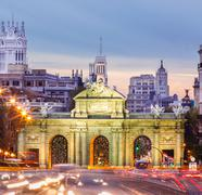 Puerta de Alcala, Madrid, Spain Stock Photos