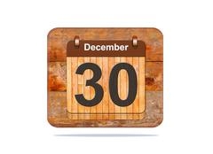 december 30. - stock illustration
