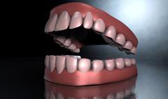 creepy teeth - stock illustration