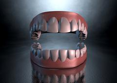 Creepy teeth Stock Illustration