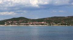 Ouranoupoli on Athos peninsula. Stock Footage