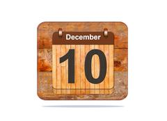 december 10. - stock illustration