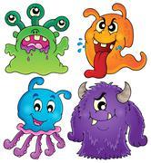 Image with monster theme - illustration. Stock Illustration