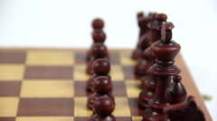 Chess kings and queens Stock Footage