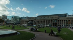 Schlossplatz Stuttgart (timelapse) Stock Footage