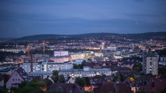 Stuttgart City (DayToNight) 2 (timelapse) Stock Footage