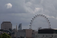 London Rooftop London Eye Hot Day Stock Footage