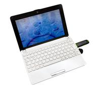 Netbook with internet key Stock Photos