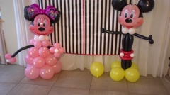 Mickey Mouse balloons Stock Footage