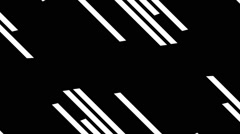 Classic Black And White Geometric Vj Loop Stock Footage