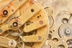 clockwork background - stock photo