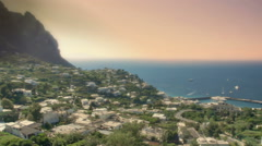 Capri Italy Townscape Late Afternoon - 25FPS PAL Stock Footage