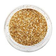 golden glitter sparkle - stock photo