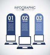 Stock Illustration of technology design over gray background, vector illustration