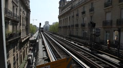 External Parisian subway Stock Footage