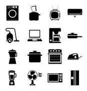 appliances design over white background, vector illustration - stock illustration