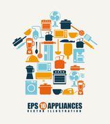 appliances design over beige background, vector illustration - stock illustration