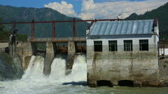View of Chemal dam, Altai Republic, Russia. Stock Footage