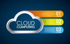 technology design over blue background, vector illustration - stock illustration