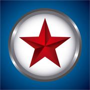Stock Illustration of star insignia  design over blue background, vector illustration