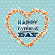 fathers day design over blue background, vector illustration - stock illustration