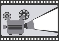 film design over  reel background, vector illustration - stock illustration