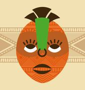 Stock Illustration of africa design over beige background, vector illustration