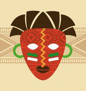 africa design over beige background, vector illustration - stock illustration