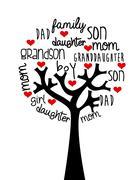 Stock Illustration of family design over  background, vector illustration