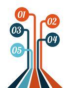 infograph design over white background. vector illustation - stock illustration