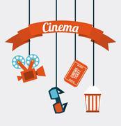 cinema icons - stock illustration