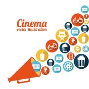 Stock Illustration of cinema design over white background vector illustration