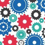 gears design over white background vector illustration - stock illustration