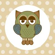 Stock Illustration of owl design over  dotted background vector illustration