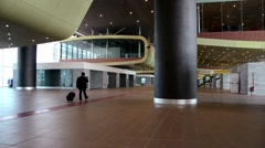 Terminal main hall Stock Footage