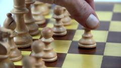 Chess move Stock Footage