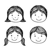 kids design over white background vector illustration - stock illustration