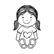 kids design over white background vector illustration - stock illustration