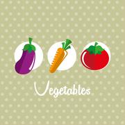 healthy lifestyle over dotted background vector illustration - stock illustration