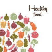 Stock Illustration of healthy lifestyle over white background vector illustration