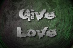 give love concept - stock illustration