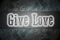 Stock Illustration of give love concept