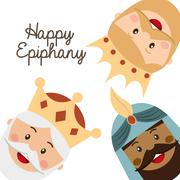 Happy ephipany over  white background vector illustration Stock Illustration
