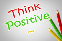 Positive thinking concept Stock Illustration